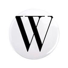 """W-bod black 3.5"""" Button"""