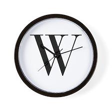 W-bod black Wall Clock