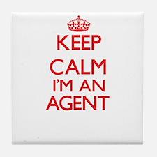 Keep calm I'm an Agent Tile Coaster