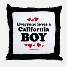 Everyone loves a California boy Throw Pillow