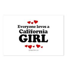 Everyone loves a California girl Postcards (Packag