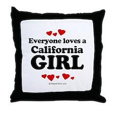 Everyone loves a California girl Throw Pillow