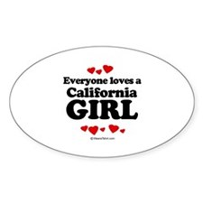 Everyone loves a California girl Oval Decal