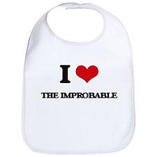 I Love The Improbable Bib