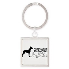 Cute Great dane Square Keychain