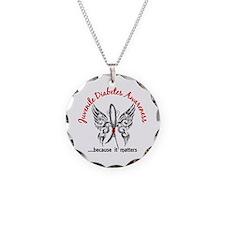 Juvenile Diabetes Butterfly Necklace