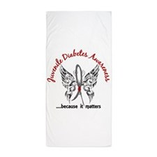 Juvenile Diabetes Butterfly 6.1 Beach Towel