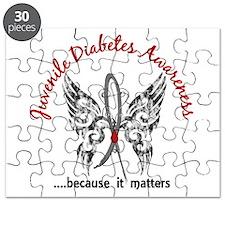 Juvenile Diabetes Butterfly 6.1 Puzzle