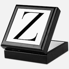 Z-bod black Keepsake Box
