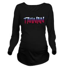 Taiwan Long Sleeve Maternity T-Shirt