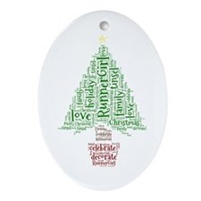 Christmas Tree Ornament (oval)