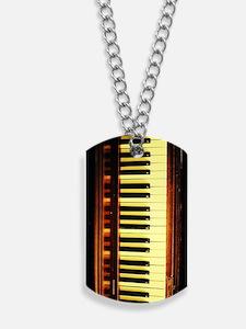 Piano Keyboard Dog Tags