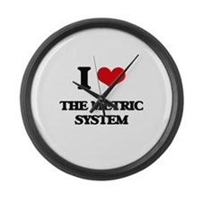 I Love The Metric System Large Wall Clock