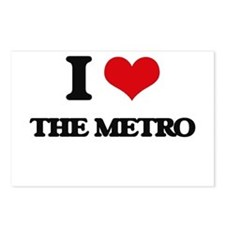 I Love The Metro Postcards (Package of 8)