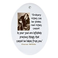 OSCAR WILDE QUOTE Ornament (Oval)