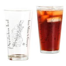 Appalachian Trail Map Drinking Glass