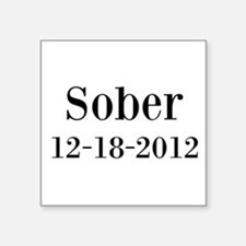 Personalizable Sober Sticker