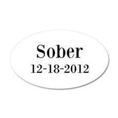 Personalizable Sober Wall Decal