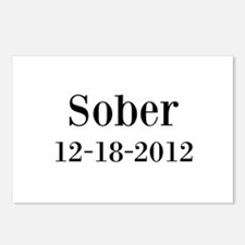 Personalizable Sober Postcards (Package of 8)