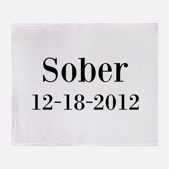 Personalizable Sober Throw Blanket