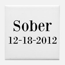 Personalizable Sober Tile Coaster