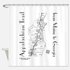 Appalachian Trail Map Shower Curtain