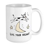 Living the dream mug Large Mugs (15 oz)