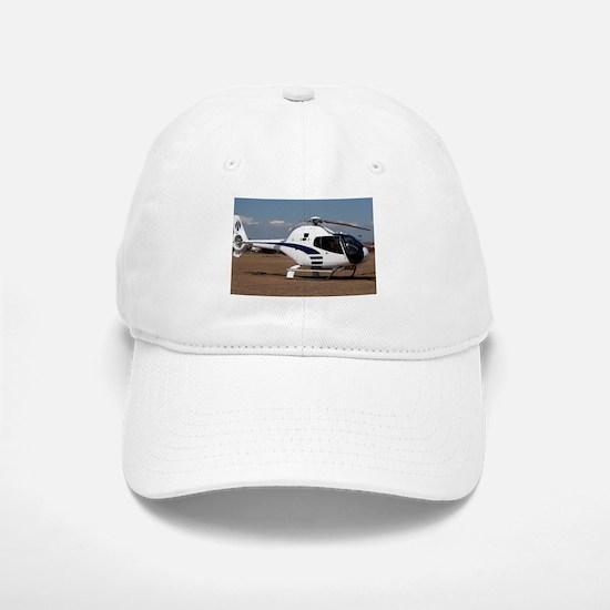 Helicopter (blue & white) Baseball Baseball Cap