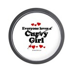 Everyone loves a curvy girl Wall Clock
