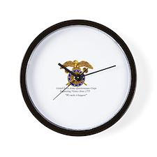 Quartermaster Logo Wall Clock