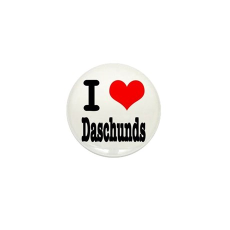 I Heart (Love) Daschunds Mini Button (10 pack)
