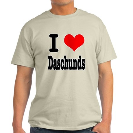 I Heart (Love) Daschunds Light T-Shirt