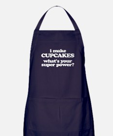 I Make Cupcakes. What's Your Super Power? Apron (d