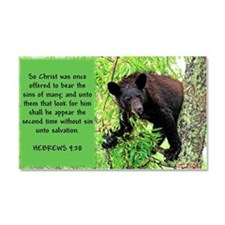 Yearling Black Bear_hebrews Car Magnet 20 X 12