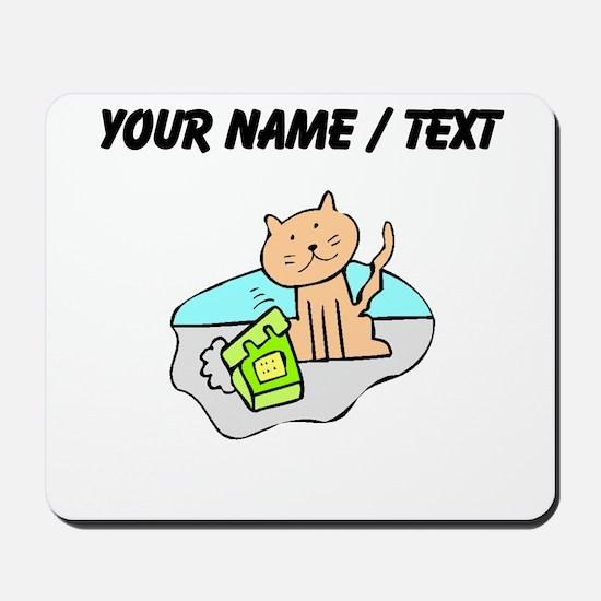 Custom Cat And Phone Mousepad
