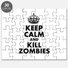 Keep Calm and Kill Zombies Puzzle