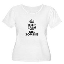 Keep Calm and Kill Zombies Plus Size T-Shirt