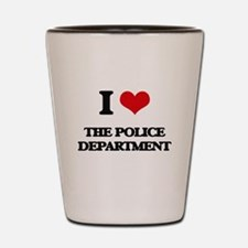 I Love The Police Department Shot Glass