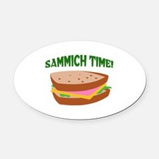 SAMMICH TIME Oval Car Magnet