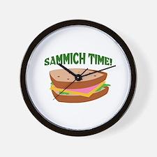 SAMMICH TIME Wall Clock