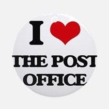 I Love The Post Office Ornament (Round)