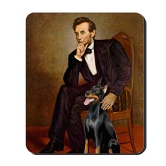 Lincoln's Doberman Mousepad