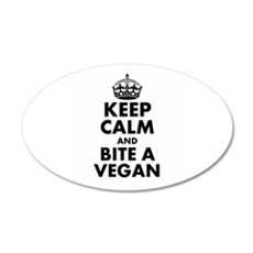 Keep Calm and Bite a Vegan Wall Decal