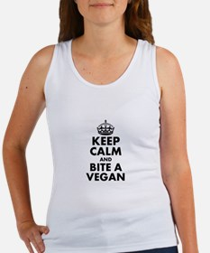 Keep Calm and Bite a Vegan Tank Top