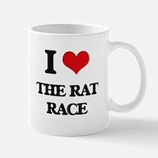 I Love The Rat Race Mugs