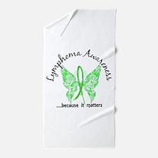Lymphoma Butterfly 6.1 Beach Towel