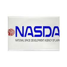 Long NASDA Logo Rectangle Magnet