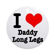 I Heart (Love) Daddy Long Legs Ornament (Round)