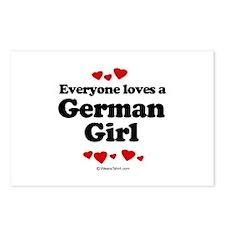 Everyone loves a German girl Postcards (Package of