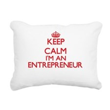 Keep calm I'm an Entrepr Rectangular Canvas Pillow